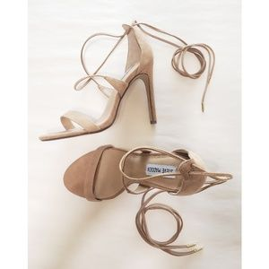 Steve Madden Nude Lace Up Heels